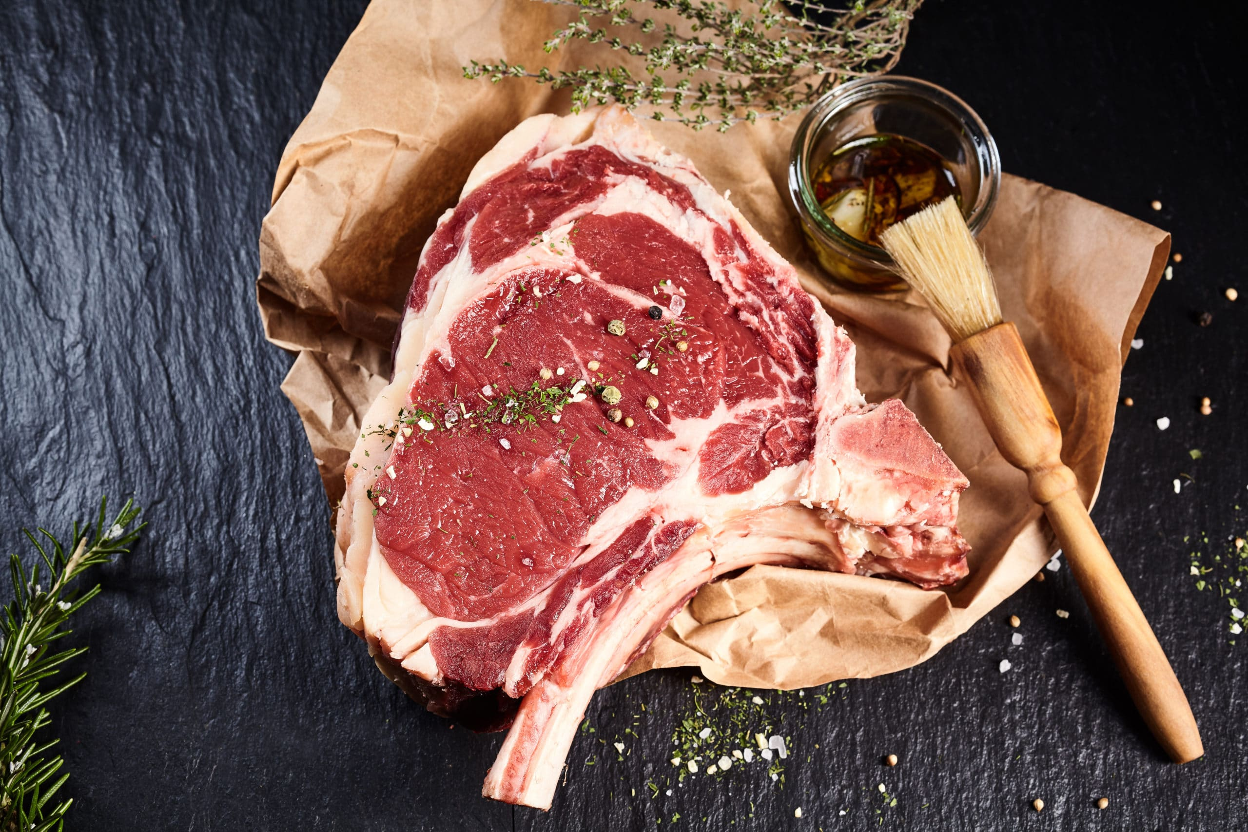 Côte de bœuf au barbecue