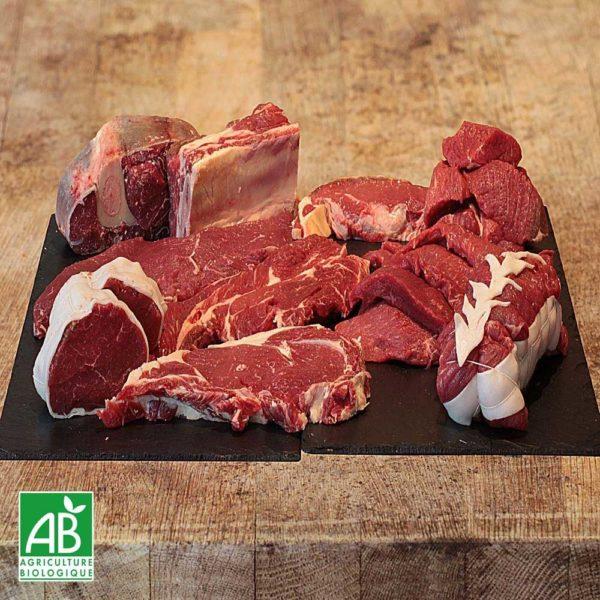 Bœuf viande à griller + galettes de bœuf assaisonnées