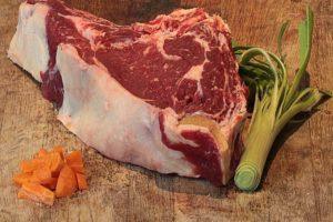 Côte à l'os de bœuf bio