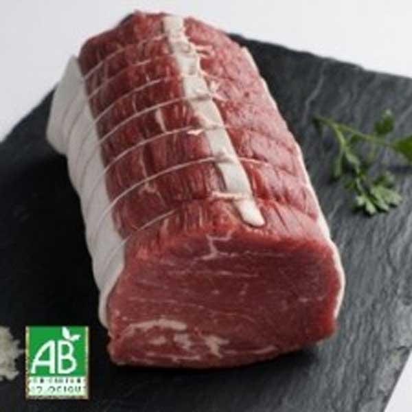 Rôti dans le filet de bœuf bio